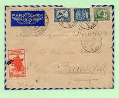 """Lettre : INDOCHINE  """"POSTE NAVALE"""" Pour BEAUSOLEIL - 1940 - - Brieven En Documenten"""