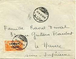 LATTAQUIE LETTRE DEPART LATTAQUIE 27 III 35 POUR LA FRANCE - Lettres & Documents