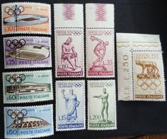 Italie Italy Italia 1960 Sport Jeux Olympiques Rome Giochi XVII Olimpiade Roma Yvert 812-820 ** MNH - 1946-60: Nuevos
