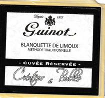 """Etiquette BLANQUETTE De LIMOUX """" GUINO """" - Unclassified"""