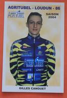 Cyclisme :  Gilles Canouet , Amateur Agritubel - Loudun , 2004 - Ciclismo