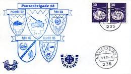 """(L3) BRD Cachetumschlag BW HEER """"20 Jahre Panzerbrigade 18"""" SSt 9.9.1979 NEUMÜNSTER 1 - Storia Postale"""