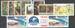 Nuova Caledonia 1999 10 Val. **/MNH VF - Años Completos