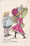 Mode - Femme Et Chapeau -Illustration De Mouton 1909 - Ponponnette Dernier Chic Parisien  (lot Pat 127) - Other Illustrators