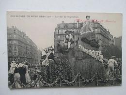 PARIS  -  CAVALCADE  DU  BOEUF  GRAS  1908  -  LE  CHAR  DE  L ' AGRICULTURE       TTB - Altri