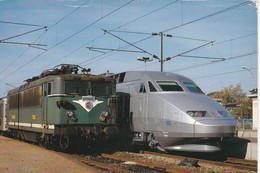 Carte Postale: Série Le TGV Sous Toutes Ses Coutures, Gare De Dreux Le 27/10/1989, TGV A N° 333 - Estaciones Con Trenes