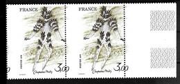 """FRANCE - N°2068** -  Variété De Piquage En Paire - 3f Chapelain Midy - """" Danseur Du Feu - La Flûte Enchantée """"  Mozart - Variétés: 1970-79 Neufs"""