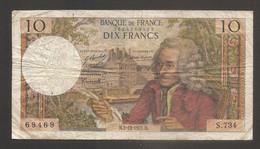 Francia - Banconota Circolata Da 10 Franchi P-147d.4 - 1971 #18 - 10 F 1963-1973 ''Voltaire''