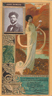 Chromo Lefèvre-Utile Gaufrée - Jean Rameau - La Poésie - Lu