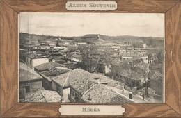 3 X CP DE MEDEA EN ALGERIE  1 CARTE A SYSTEME + 6 VUES ,1 GROUPE DE SPAHIS+ LA PLACE, SOLDAT Marcel 1916 - Medea