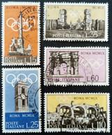 Italie Italy Italia 1959 Sport Jeux Olympiques Rome Preolimpica Roma Yvert 788-792 O Used Usato - 1946-60: Usados
