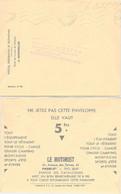 LETTRE PUBLICITAIRE LE MOTORIST PARIS - DIATRIBE CONTRE LES FONCTIONNAIRES ..  7.1.1937 /3 - Brieven En Documenten