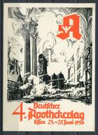 """German Empires Essen 1937 Sonderkarte Apothekertag Mit Mi.Nr.646 Und SST""""ESSEN-4.Deutscher Apothekertag """"1 Karte Used - Lettres & Documents"""