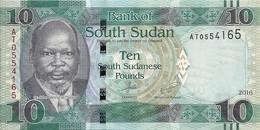 SOUDAN SOUTH 10 POUNDS 2016 UNC P 12 B - Sudan
