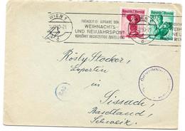 243 - 60 - Envelope Envoyée De Wien En Suisse 1950 - Censure - 1945-60 Cartas