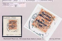 Ireland Laois 1922 Rubber Climax Dater KILCAVAN CROSS GEASHILL KINGS Co 7 OCT.22 On Piece - Ohne Zuordnung