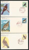 Japan 1963-64 Birds FDC Set Of 6 Y.T. 742/745B ** - FDC