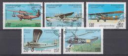 Cambodja 1984  MI.NR. 1467-1471  Flugzeuge   USED / GEBRUIKT / OBLITERE - Camboya