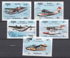 Cambodja 1992  MI.NR. 1323-1327 Wasserflugzeuge   USED / GEBRUIKT / OBLITERE - Camboya