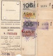 ABBONAMENTO TRAMVIE ROMA 1910 (manca Foto) (XF10 - Europa