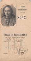 TESSERA RICONOSCIMENTO PER BIGLIETTO OPERAIO 1924  (XF23 - Europa