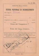 TESSERA PERSONALE RICONOSCIMENTO 1949 (XF29 - Europa