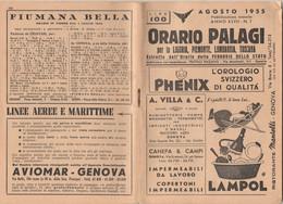 ORARIO FERROVIARIO 1955 PALAGI (XF102 - Europe
