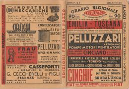 ORARIO FERROVIARIO 1941 EMILIA TOSCANA (XF103 - Europe