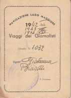 NAVIGAZIONE LAGO DI GARDA VIAGGI DEI GIORNALISTI 1942-3-4 (XF116 - Europe