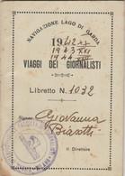 NAVIGAZIONE LAGO DI GARDA VIAGGI DEI GIORNALISTI 1942-3-4 (XF117 - Europa