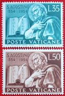 Geburtstag Des Hl.Augustinus 1954 Mi 225-226 Yv 205-206 POSTFRIS / MNH / ** VATICANO VATICAN VATICAAN - Unused Stamps