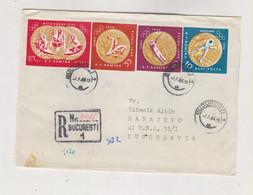 ROMANIA 1964 BUCURESTI Nice Registered   Cover To Yugoslavia - Covers & Documents