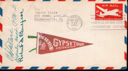 USA - 1950 - Letter - Gypsy Tour - 1950 NH - US Air Mail - 6C - A1RR2 - Motorfietsen