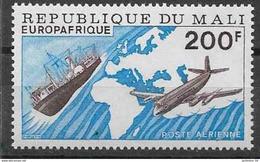 1976 MALI PA 285 ** Europafrique, Bateau, Avion - Mali (1959-...)