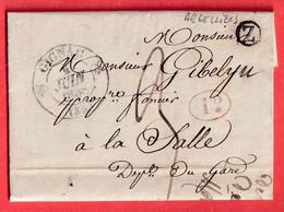 CAD TYPE 12 GIGNAC HERAULT BOITE RURALE Z ARGELLIERS LA SALLE GARD - 1801-1848: Vorläufer XIX