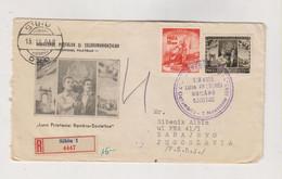 ROMANIA 1958 SIBIU Nice Registered  Cover To Yugoslavia - Covers & Documents