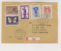 ROMANIA 1957 SIBIU Nice Registered  Cover To Yugoslavia - Covers & Documents
