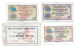 (Billets). Russie Russia URSS USSR Vneshposiltorg Lot N°2. Foreign Exchange Certificate - Russia