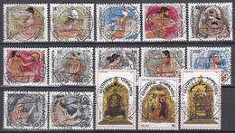 GRIECHENLAND 1608-1619, 1640-1642, Gestempelt, Die Götter Des Olymp, Weihnachten, 1986 - Oblitérés