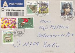 SCHWEIZ  929, 1461, 1531, 1565, 1573, 1582. MiF, Auf R-Brief, Stempel: Schwarzenbach 26.8.1996 - Brieven En Documenten