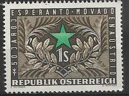 4090b20: Österreich 1954, 50 Jahre Esperantobewegung In Österreich, ANK 1014 ** (7.- €) - Esperanto