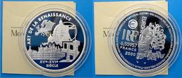 FRANCE 1 E 2000 ARGENTO PROOF ARTE DE LA RENAISSANCE 1 EURO 6,55957 FRANCHI PESO 22,2g TITOLO 0,900 CONSERVAZIONE FONDO - K. 10 Francs