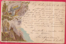 Suisse - ARIN RIGI BAHN - Carte Pionnière Postée 23/VII/1887 ! OUI ! 1887 ! Phototypie Von Brunner & Cie. In Winterthur - LU Lucerne