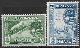 Malaya Malacca  1960   Sc#60 & 62    8c & 20c   MH   2016 Scott Value $5.75 - Malacca