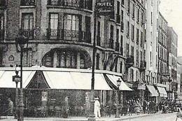 CPA 75 PARIS 20e Station De Métro PORTE DE MONTREUIL Ligne N°9 Du Métropolitain Rue D' Avron 1936 Ed. Grau N° 1 - District 20