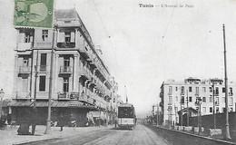 Tunisie )  TUNIS  -  L'  Avenue De Paris   (  Tramway  ) - Tunisia
