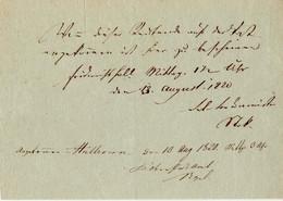 1820 Heilbronn,Boten-Quittung - Unclassified