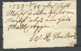 1739 Quittung über Ein Halb Malte Roggen - ... - 1799