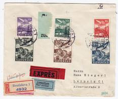 Slowakei FLP-Express-R-Brief Vom Verlag Donaupost Von Preßburg Nach Leipzig Mit Zensur Selten - Sin Clasificación