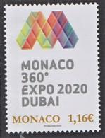 1.- MONACO 2020 EXPO 2020 Dubai - Altre Esposizioni Internazionali
